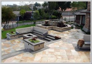 metric concrete hardscape design