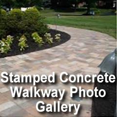 stamped concrete walkways