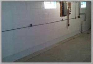 metric concrete design basement waterproofing