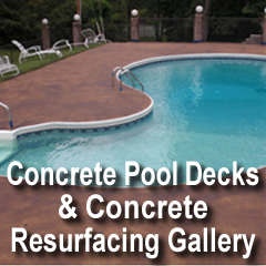 Concrete Pool Decks And Concrete Resurfacing Gallery